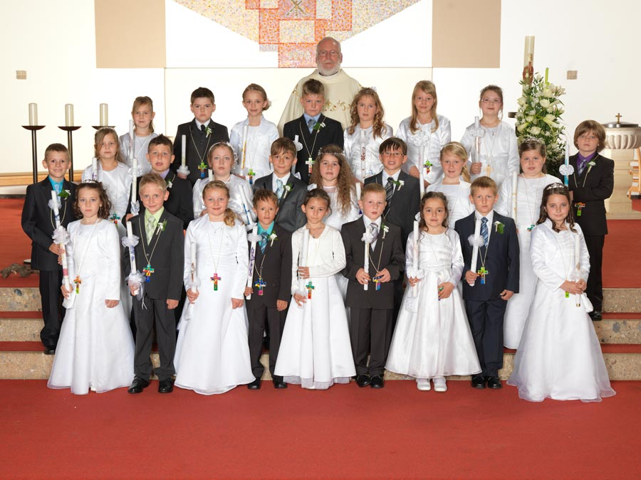 Gruppenfoto Erstkommunion